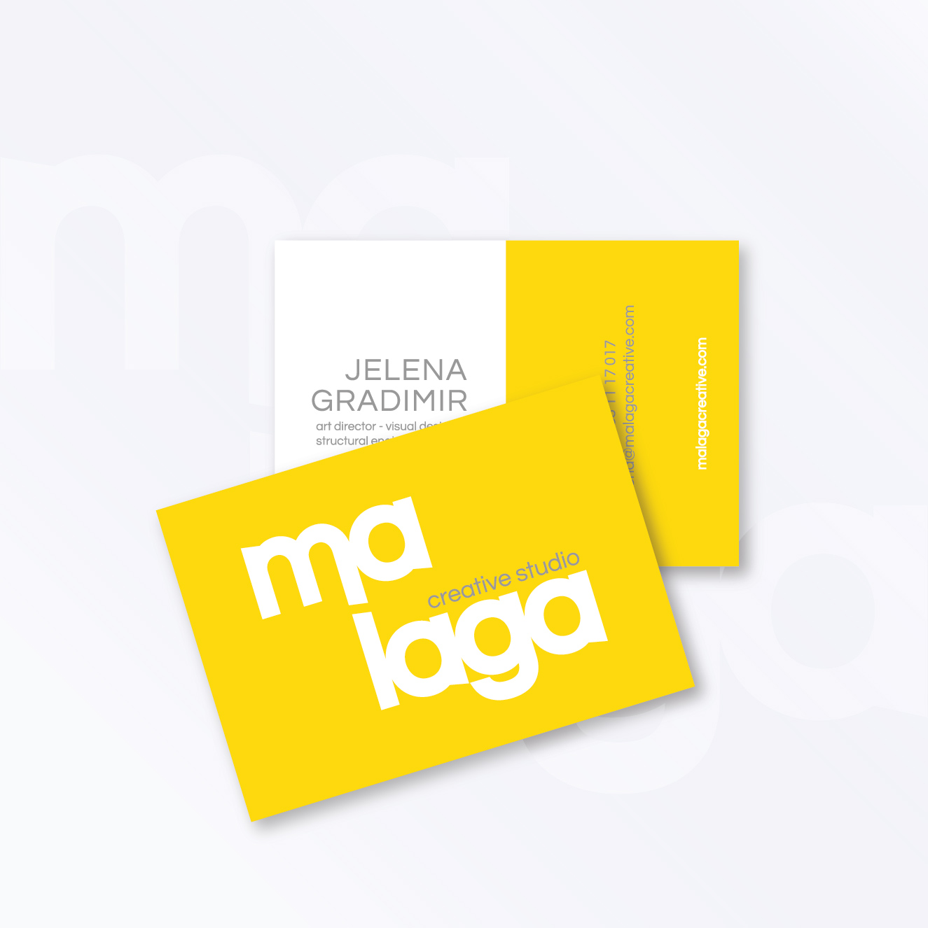 business card malaga